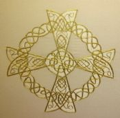 Ornate Celtic Cross Panel